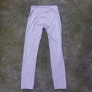 Outdoor voices lilac stripe leggings